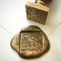 William Morris insprired wax seals.  Exclusive heypenman design wax seal stamp