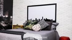 """Saiba como decorar um ambiente de maneira prática e rápida sem gastar muito! Terceiro episódio da série """"PROJETO CRIATIVO"""" A Imprimax forneceu espaço e materiais para que arquitetos e design de interiores esbanjassem sua criatividade, mostrando as possibilidades da utilização de vinil autoadesivos na decoração. Veja o projeto criado pela arquiteta e urbanista JANAINA BARBOSA E Design, Oversized Mirror, Furniture, Home Decor, Architects, Environment, Creativity, Log Projects, Decoration Home"""