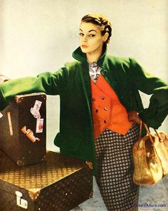 1950.  Photo by Richard Avedon for Simplicity Pattern Book.