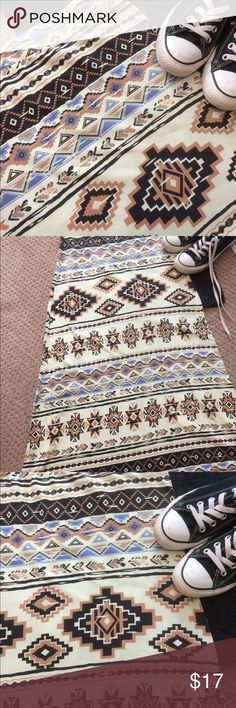 """Aztec Maxi Skirt Aztec maxi skirt.  Sz S. The tags have been cut out.  Laying flat waist is 14"""" & 37 1/2"""" long.  Great condition.  Bought at a local boutique Skirts Maxi"""