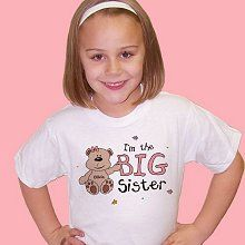 Sisters Teddy Bear Personalized Youth T-shirts