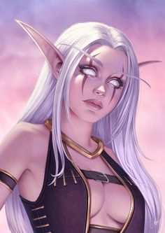 World of Warcraft Art: Photo Dark Fantasy Art, Fantasy Art Women, Fantasy Girl, Fantasy Artwork, Fantasy Character Design, Character Inspiration, Character Art, Elfa, Fantasy Characters