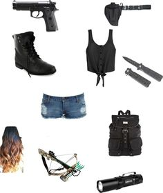 """""""The Walking Dead"""" outfit Dary Dixon Zombie Apocalypse Outfit, Apocalypse Survival, Cute Fashion, Fashion Outfits, Kawaii Fashion, Grunge Outfits, Badass Outfit, Spy Outfit, Walking Dead Clothes"""