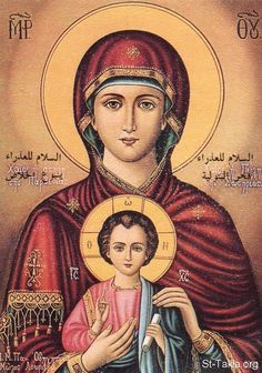 """1/1/2016: Saint Mary Mother of God - Θεοτόκος / Theotokos, God-Bearer - God's """"first"""" thought in creating was Jesus. Jesus, the incarnate Word, is the one who could give God perfect love and worship on behalf of all creation. As Jesus was """"first"""" in God's mind, Mary was """"second"""" insofar as she was chosen from all eternity to be his mother. (Saint of the Day, Franciscan Media)"""