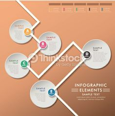 Abstract Flow Chart Infographics Vector Art 465404053