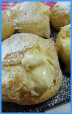 Baked San Giuseppe puffs recipe - Bigne San Giuseppe baked recipe The Effective Pictures We Offer You About ricetta pane fatto in cas - Beignets, Just Desserts, Dessert Recipes, My Favorite Food, Favorite Recipes, Puff Recipe, Something Sweet, Italian Recipes, Baked Goods