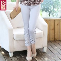 2013 middle-aged and old women's mom nine minutes of pants and seven minutes of pants pants in the summer wear pants trousers fashion pants, casual pants
