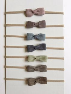 Muted Linen bow,  Headbands, Baby Headbands, Accessories, Baby Accessories, newborn bows, newborn headbands, nylon headbands, nylon bands, infant bows, infant headbands, little girl bows, little girl headbands, bow of the month, bow club, baby girl bow, baby girl headbands, nylon headband baby, baby shower, baby shower gifts, bow headband, alligator clip, Hair Accessories, Headbands and Turbans, Preemie bows, preemie headbands