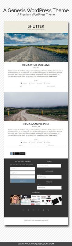 A Genesis WordPress Theme - Shutter - A Premium WordPress Theme #wordpress #blogging