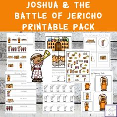 This Joshua and the Battle of Jericho Printable Pack is a great way to teach children ages 2 - 9 about this amazing battle. Preschool Bible Lessons, Bible Activities For Kids, Bible Stories For Kids, Bible Crafts For Kids, Bible Study For Kids, Bible Lessons For Kids, Kids Bible, Bible Story Crafts, Bible School Crafts