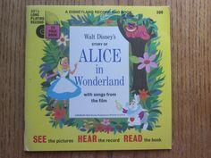 Alice in Wonderland Walt Disney Record and Book by LeftoverStuff, $10.00