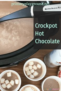 This hot chocolate is quick and simple to make in the classroom this winter with your class!