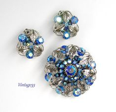 Rhinestone Jewelry, Vintage Rhinestone, Vintage Earrings, Vintage Jewelry, Beaded Necklace, Unique Jewelry, Leaf Earrings, Diamond Earrings, Stud Earrings