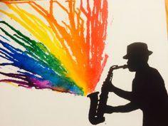 Music crayon art