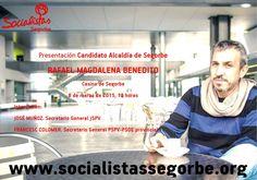 El PSPV de Segorbe presenta de cabeza de lista a un militante del PP El Partido Popular de la provincia de Castellón expedienta a José Rafael Magdalena Benedito