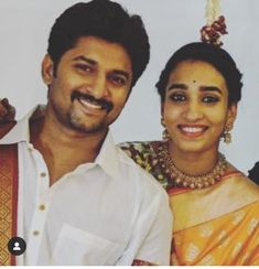 Nani with his wife Gentleman Movie, Crazy Fans, Actors Images, Star Cast, Best Actor, Stars, Couple Photos, Couples, Celebrities