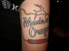 made in oregon tattoo