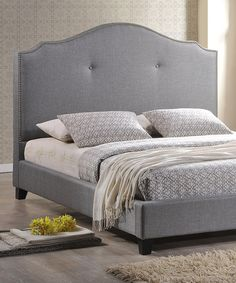 Take a look at this Gray Modern Scalloped Marsha Queen Bed Set on zulily today!