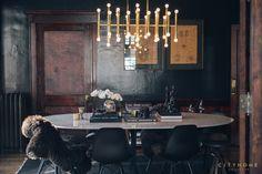 black, eames, mid century modern, fur, dining room, Cody Derrick, cityhomeCOLLECTIVE