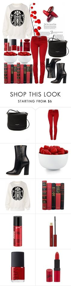 """""""Untitled by sc-styles ❤ liked on Polyvore featuring Lancaster, Gucci, The Cellar, Kevyn Aucoin, NARS Cosmetics, Rimmel and Giorgio Armani"""