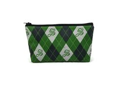 Small Slytherin Zipper Pouch Toiletry Bag Harry Potter by WyndMill