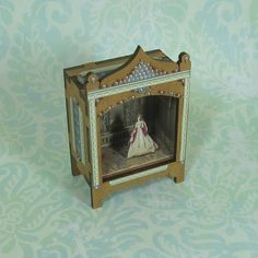Miniature Toy Theater Vignette with Blues by beadcharmed on Etsy