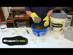 How to Make a Clay-like Mix, VIDEO | made with ShapeCrete : the Shape-able Concrete Mix for diy, pros, kids 12+, craft, art, make / maker projects