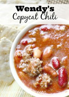 Wendy's chili is one of my favorite chili recipe from a restaurant. Looking to whip up a hearty soup? This is a perfect option and it will feed a crowd on a budget, too. You'll want to pin this, add it to your meal plan for your soups for winter.