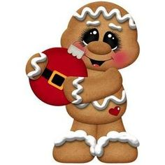 Silhouette Design Store - View Design #107593: gingerbread with christmas ornament