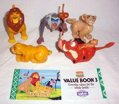 1994 Burger King  Disney Lion King Fast Food Toys And Value Book #Disney