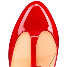 Tpoppins 100mm Red Patent Leather ($745) ❤ liked on Polyvore featuring shoes, pumps, high heel stilettos, high heel pumps, patent leather pumps, high heel shoes and red stilettos