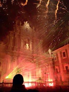 """I fuochi da """"sira o tri' festa di Sant'Agata 2015. Catania"""