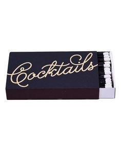Cocktails Matchbox - Hattan Home - 1 Holiday Gift Guide, Holiday Gifts, Whisky Tango, Shot Glasses, Cocktail Napkins, Hostess Gifts, Best Gifts, Cocktails, Pattern