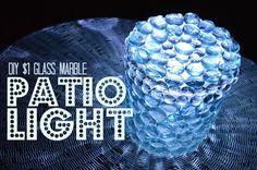 glass marble patio light, crafts, gardening, lighting, outdoor living, raised garden beds
