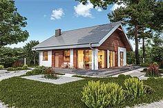 Projekt domu Murator C333j Miarodajny - wariant X 86,6 m2 - koszt budowy 174 tys. zł - EXTRADOM 20 M2, Home Fashion, Ideas Para, Townhouse, Cottage, Outdoor Structures, Cabin, House Styles, Modern