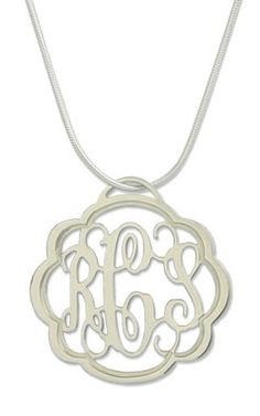 Monogrammed Pendant from Heart Strings Jewelry