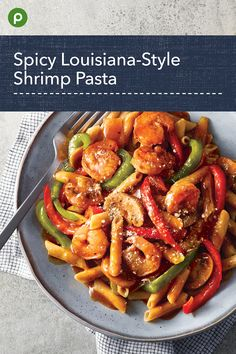 The Cajun-style sauce is spicy and garlicky. Shrimp Recipes For Dinner, Shrimp Recipes Easy, Seafood Dinner, Fish Recipes, Seafood Recipes, Vegetarian Recipes, Healthy Recipes, Publix Recipes, New Recipes