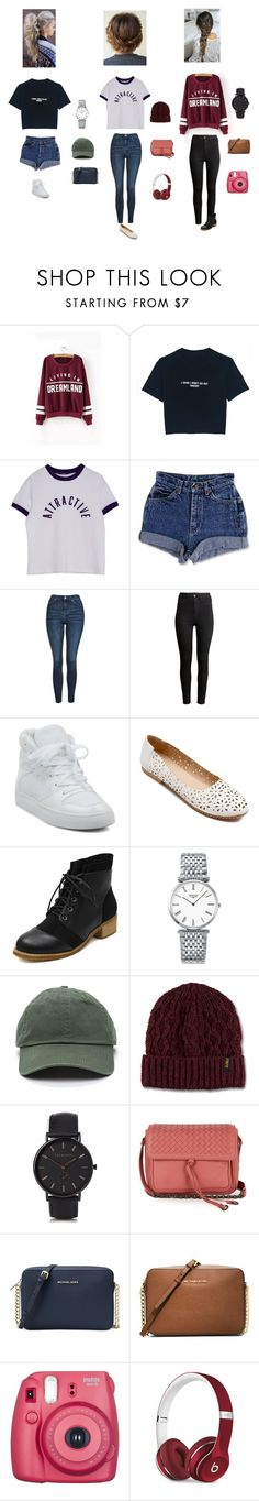 """Untitled #72"" by tessoffical1 ❤ liked on Polyvore featuring WithChic, Topshop, H&M, Longines, Dr. Martens, The Horse, Bottega Veneta, Michael Kors, Fujifilm and Beats by Dr. Dre"