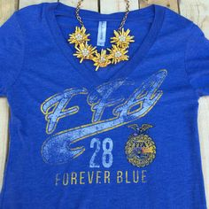Vintage Forever Blue tee. #FFAstyle