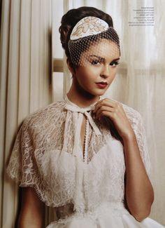 Ava Ivory Lace CAPE with Velvet Bow & Swarovski Crystals : BRIDE WEDDING, Great Gatsby, hollywood Glamour
