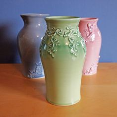 large classical vase in spring pea by jampdx on Etsy, $120.00