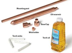 How to build copper patio torches Outdoor Torches, Tiki Torches, Outdoor Pergola, Backyard Projects, Outdoor Projects, Garden Projects, Wine Bottle Tiki Torch, Garden Torch, Wood Shop Projects