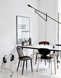 Copenhagen home of Nina Bruun #dining