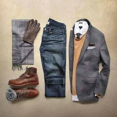 Except for the cuffed worn out looking jeans, I really like this outfit.