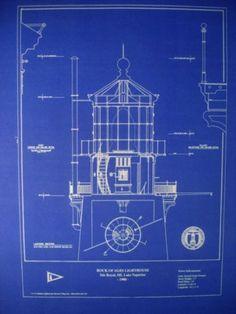 North carolina bodie island lighthouse blueprint plans 20x23 272 lighthouse lens rock of ages lake superior 1908 blueprint plan 295 malvernweather Image collections