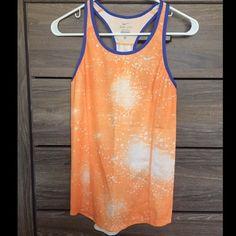 Nike singlet run tank top racerback Cool galaxy orange print singlet run top size XS worn once Nike Tops Tank Tops