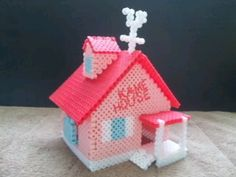 3D Kame House - Dragon Ball Z perler beads