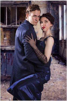 Alana & Patrick and background superimposed