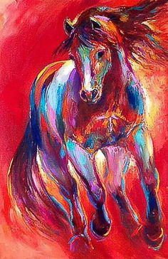 Santa Fe Art Gallery Shows Cool Paintings, Animal Paintings, Horse Drawings, Art Drawings, Pallet Painting, Equine Art, Horse Pictures, Horse Art, Art Plastique