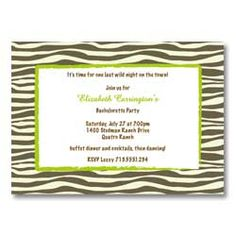zebra graduation invitations. cause they are probably gonna go wild at college.
